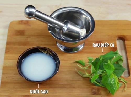 Rau diếp cá và nước vo gạo 1