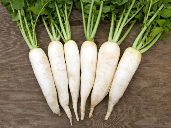 4. Trị nhiệt miệng cho trẻ bằng củ cải trắng 1